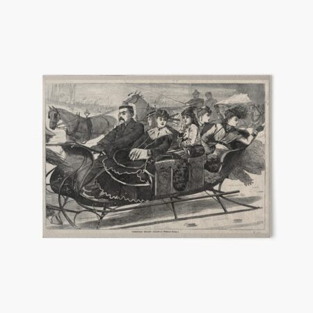 """Christmas Belles"" Vintage Christmas Print by Winslow Homer (1869) Art Board Print"