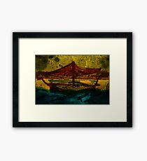 An ancient ship Framed Print