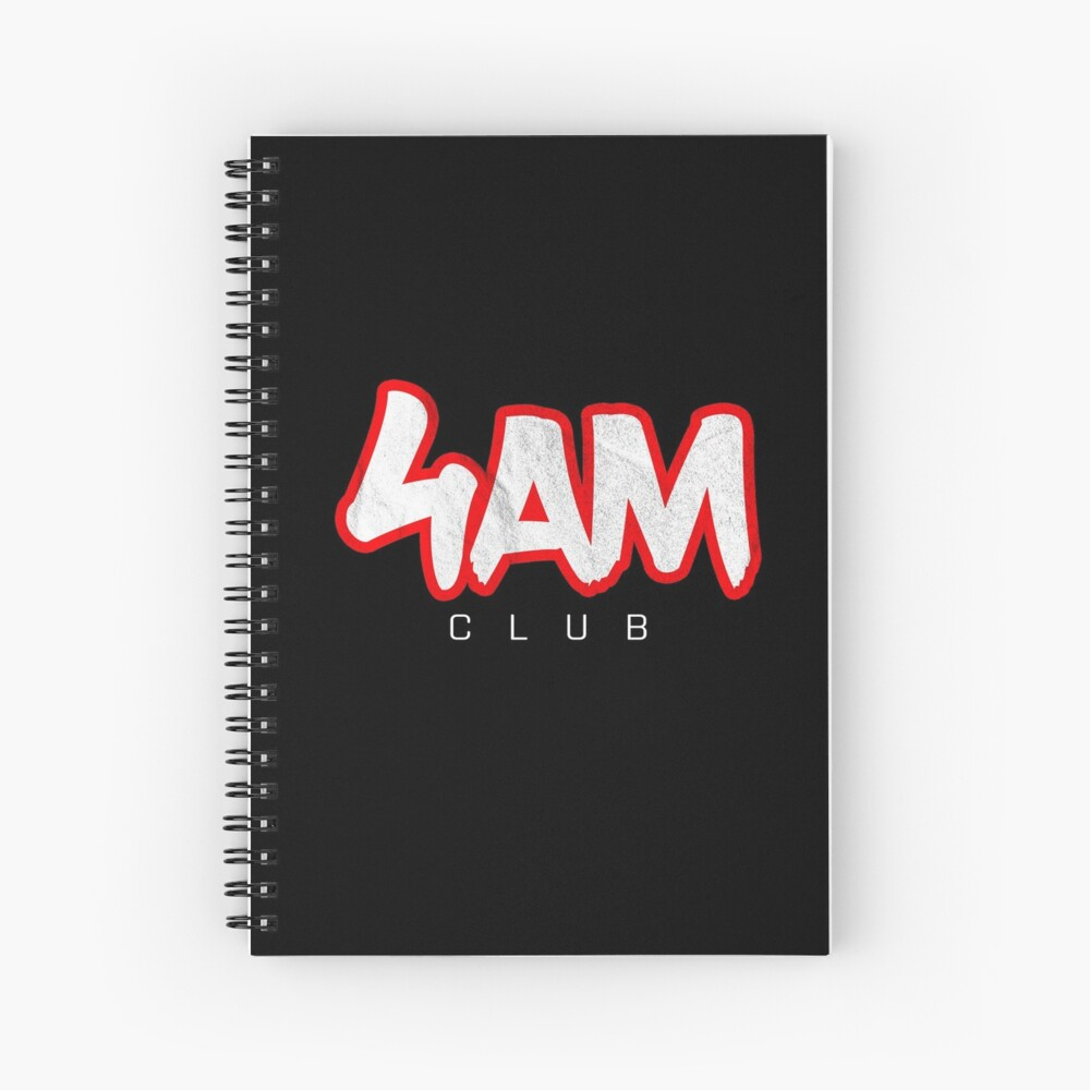 Gym Workout Motivation - Personal Trainer Coach - 4AM  Spiral Notebook