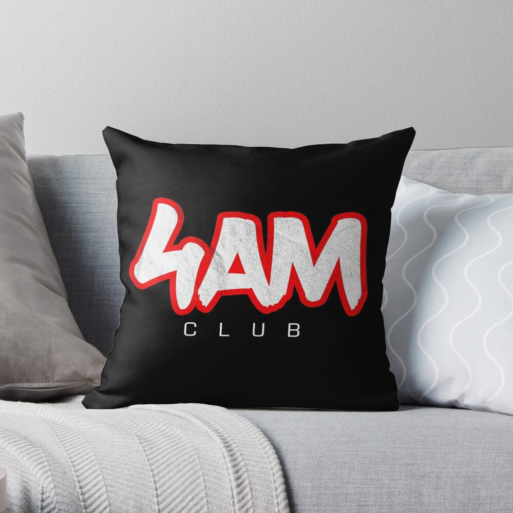 Gym Workout Motivation - Personal Trainer Coach - 4AM  Throw Pillow