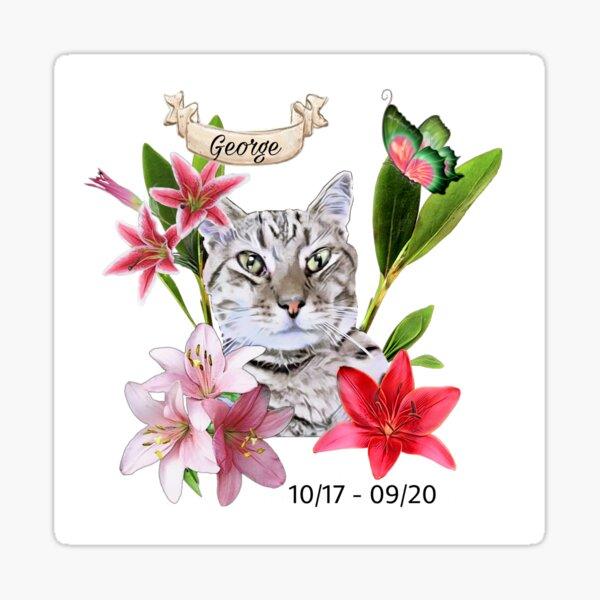 George (Per Memorial) Sticker