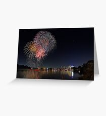 Easter Fireworks  Greeting Card