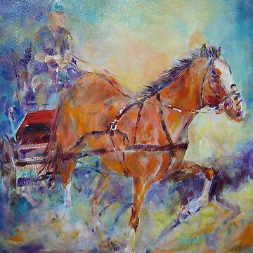 Horses & Carriage Race Painting by ballet-dance