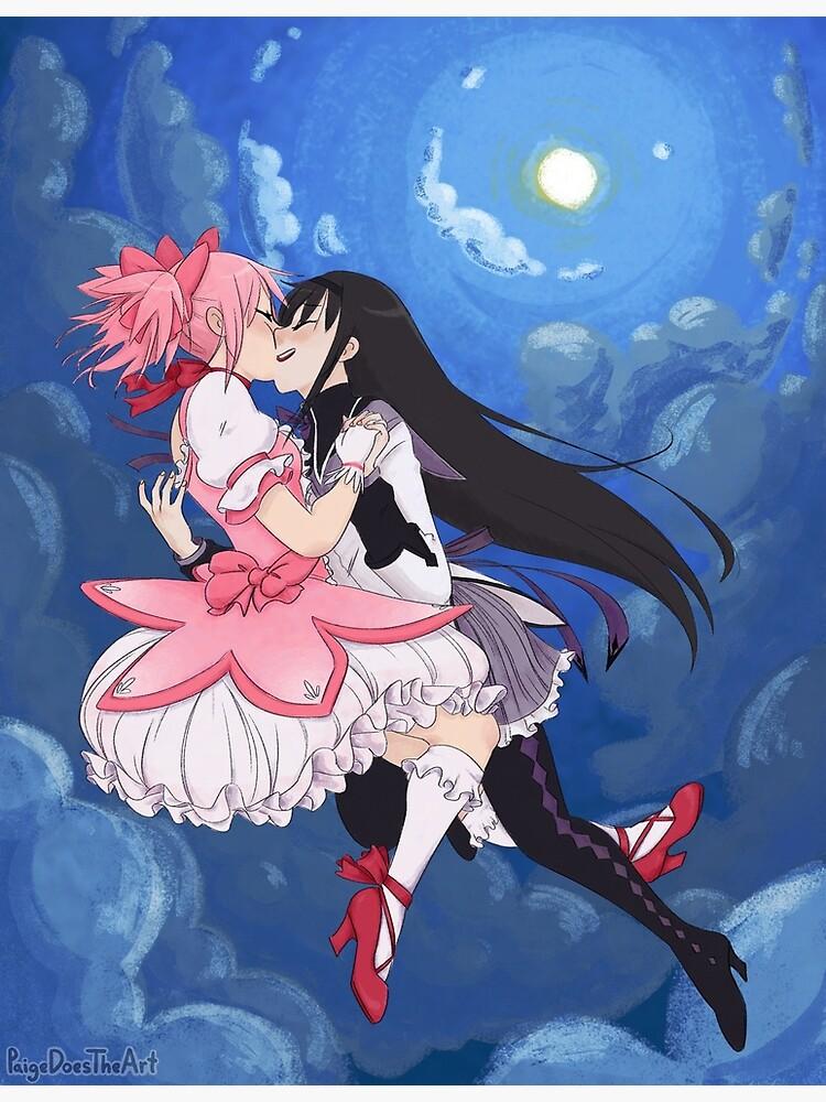 Madoka Magica Madoka and Homura full by PaigeDoesTheArt
