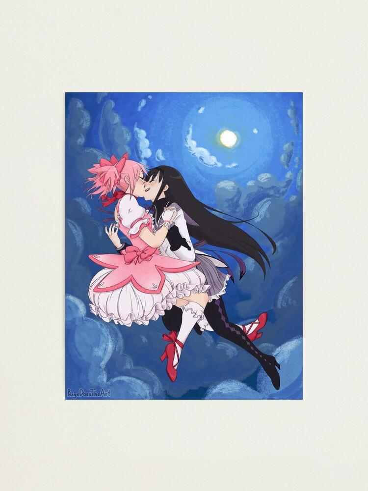Alternate view of Madoka Magica Madoka and Homura full Photographic Print