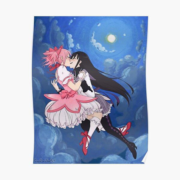 Madoka Magica Madoka and Homura full Poster