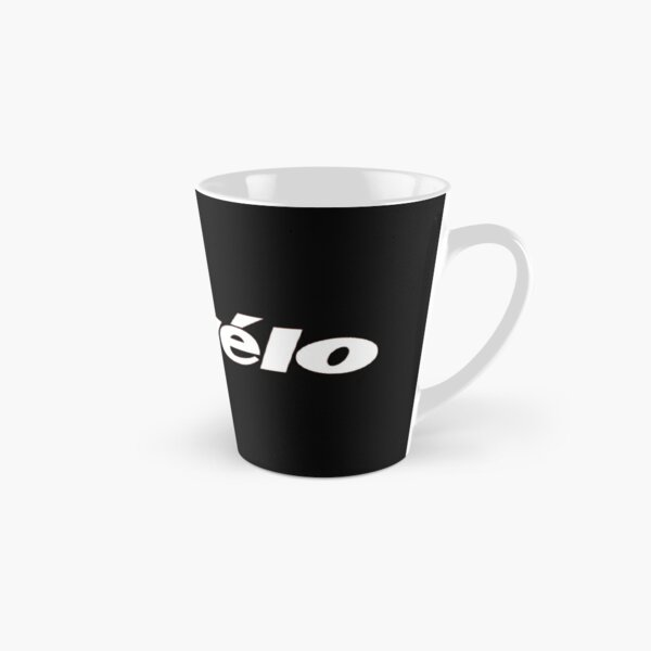 Cervelo - cycling brand, classic logo, simple, modernist. White graphic.  Tall Mug