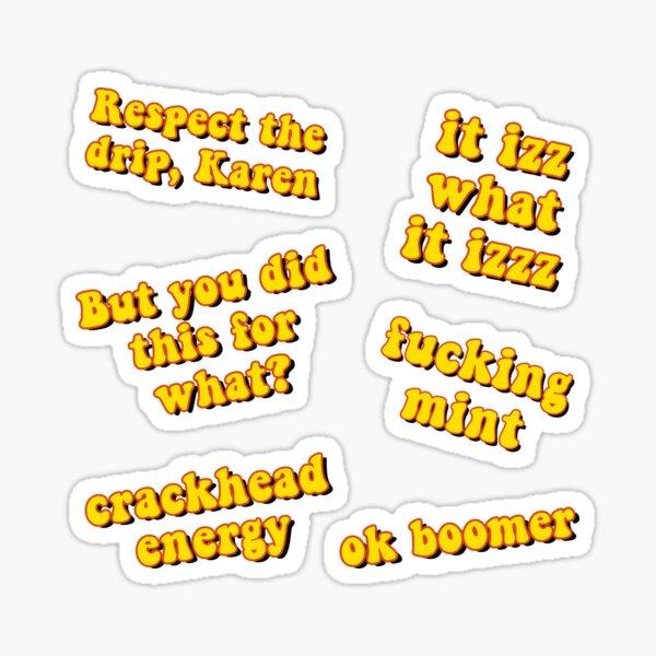 Yellow Meme Pack Sticker