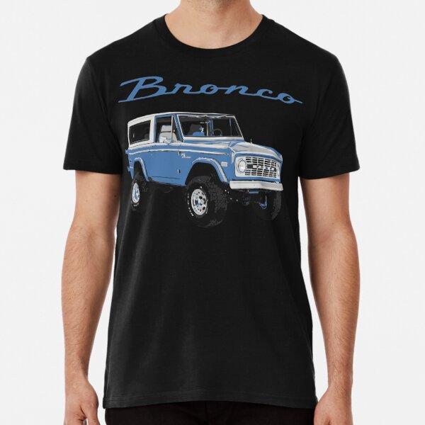 1975 Blue Classic Ford Bronco Premium T-Shirt