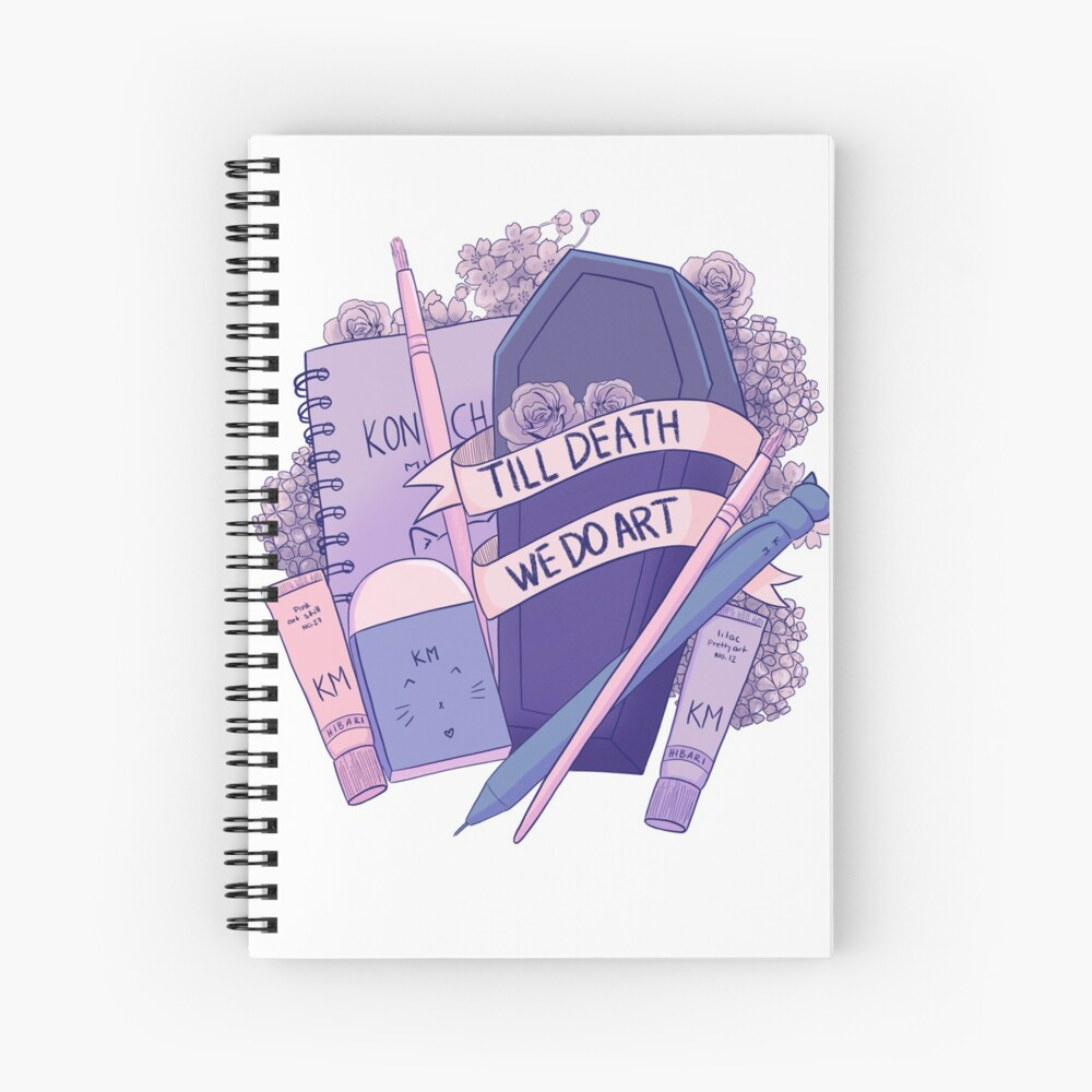 Till death we do art  Spiral Notebook
