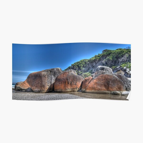 Squeaky Beach Boulders, Wilsons Promontory, Victoria Poster