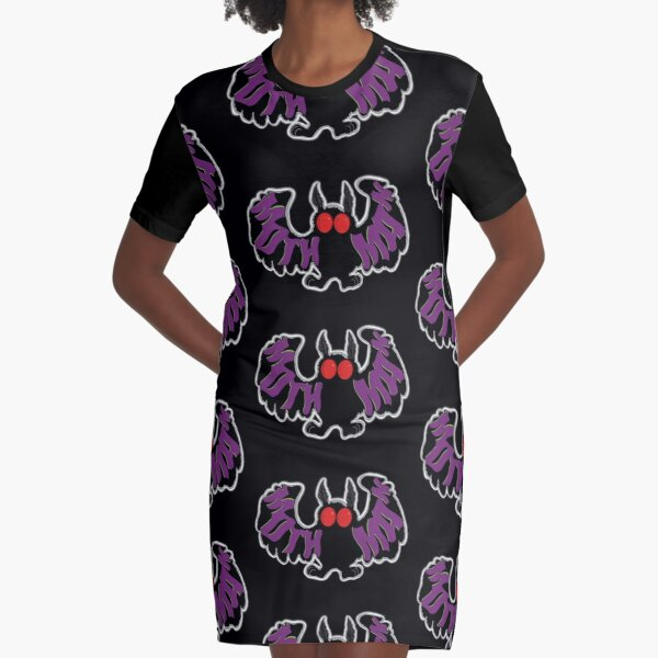 Mothman Cartoon Graphic T-Shirt Dress