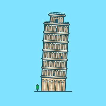 #36 Pisa by brownjamesdraws