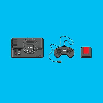#39 Sega Megadrive by brownjamesdraws