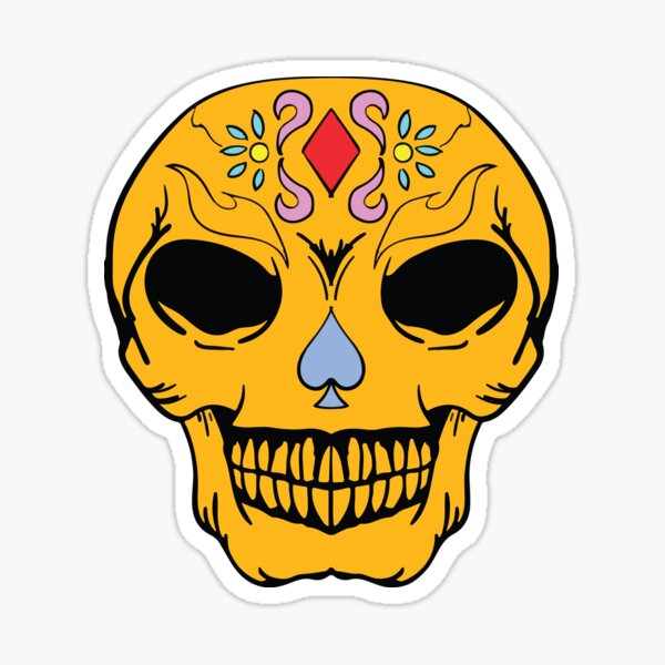 The Smile of Death - Skull smile Sticker