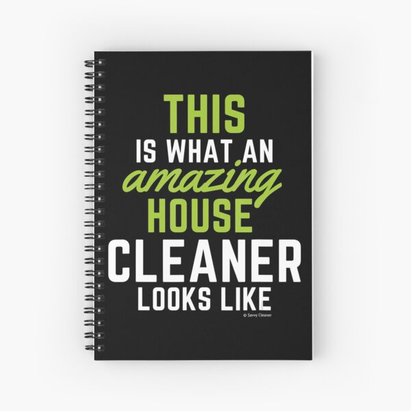 This Amazing House, Funny Cleaning Maid, Clean House Humor Spiral Notebook