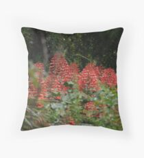 Aesculus pavia - Southern Flowers Throw Pillow