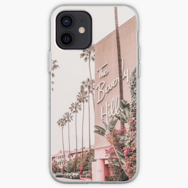 Beverly Hills Hotel Pink iPhone Soft Case