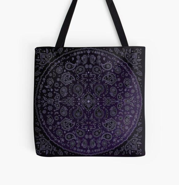 Daisies and Paisley All Over Print Tote Bag