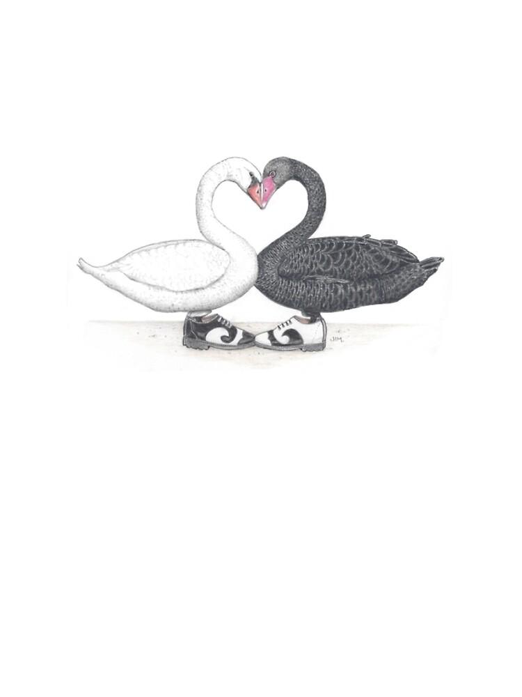 Swans in fluevogs by JimsBirds