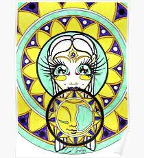 Moon Mandala Goddess Poster