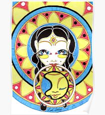 Sun Mandala Goddess Poster