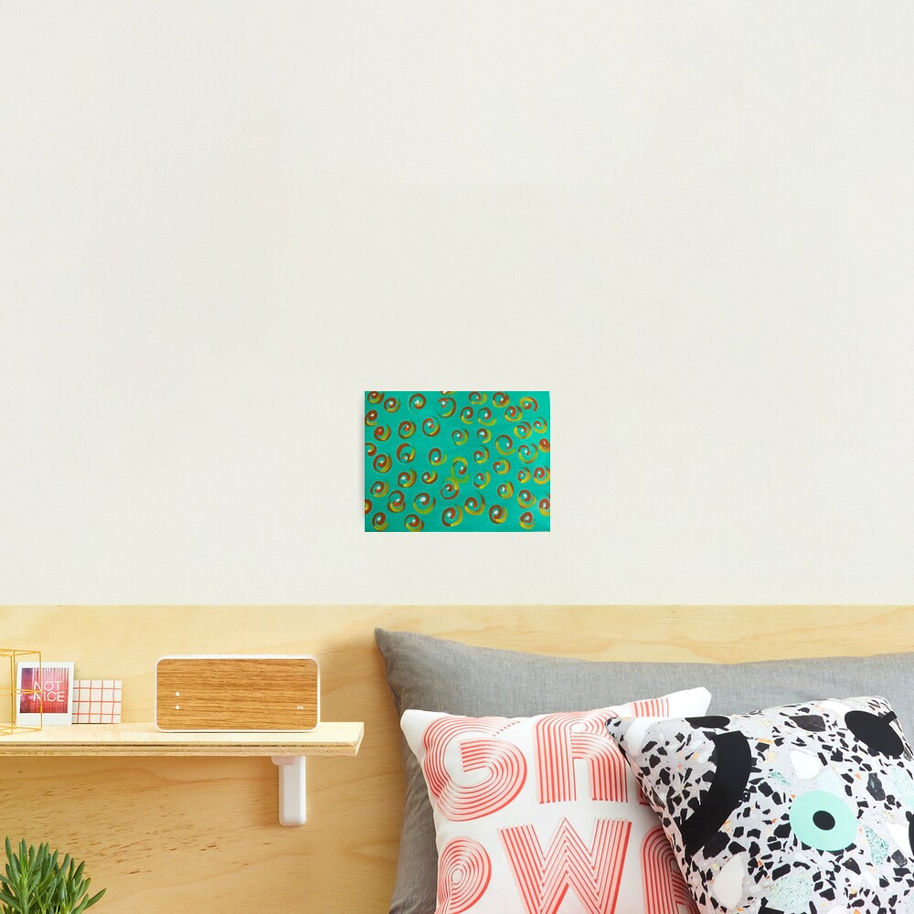 """Abstract Painting-""""Keep It Simple""""-Swirls & Dots Photographic Print"""