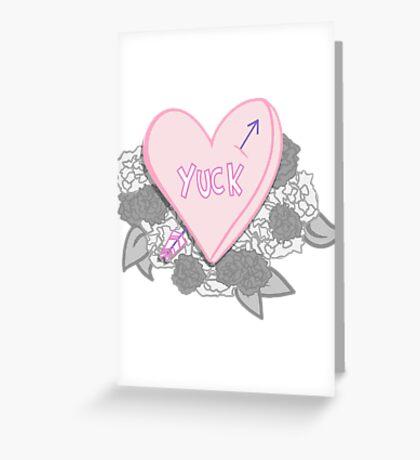 YUCK Greeting Card