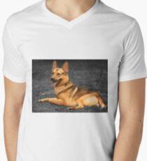 Diesel - German Shepherd Men's V-Neck T-Shirt