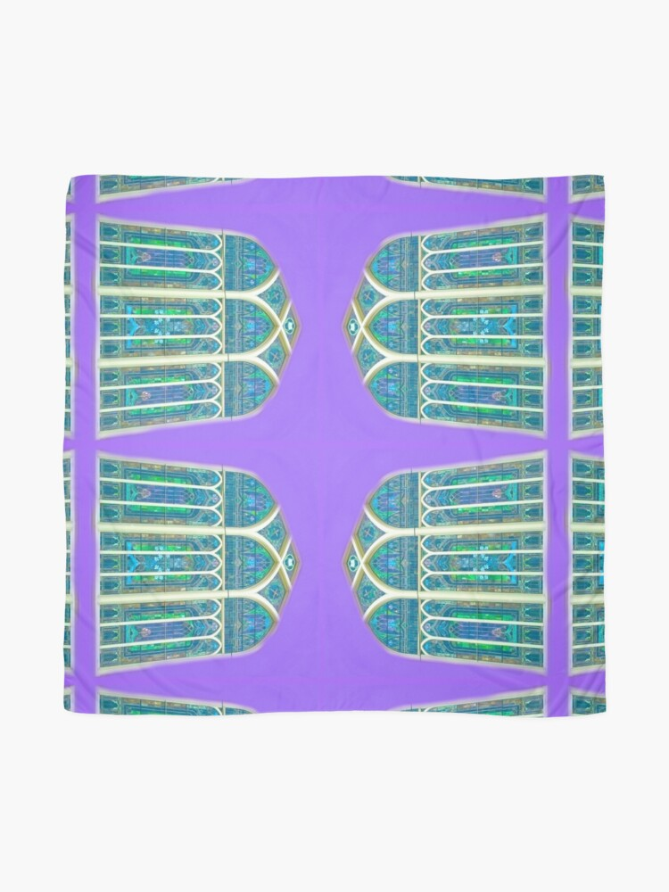 Alternate view of Tiffany Stained Glass Windows- Stained Glass- The Lily Windows Scarf