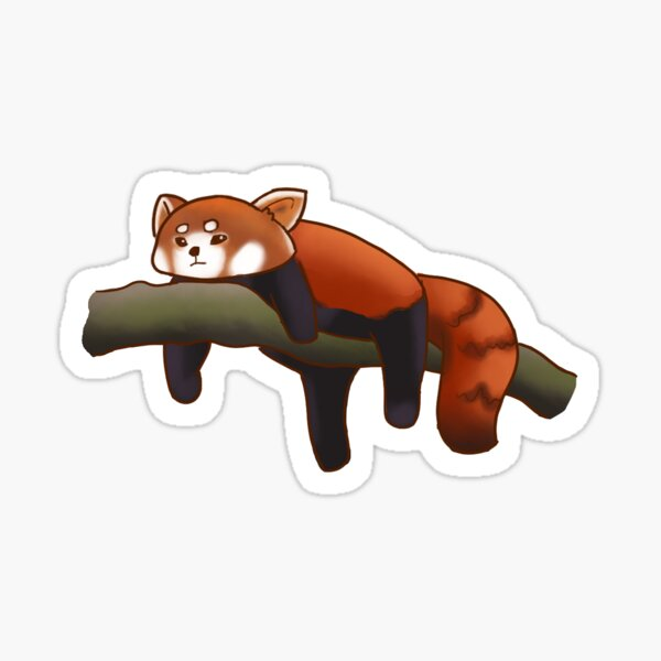 Lazy Red Panda Sticker