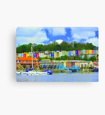 Bristol skyline in big colour  Canvas Print