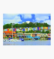 Bristol skyline in big colour  Photographic Print