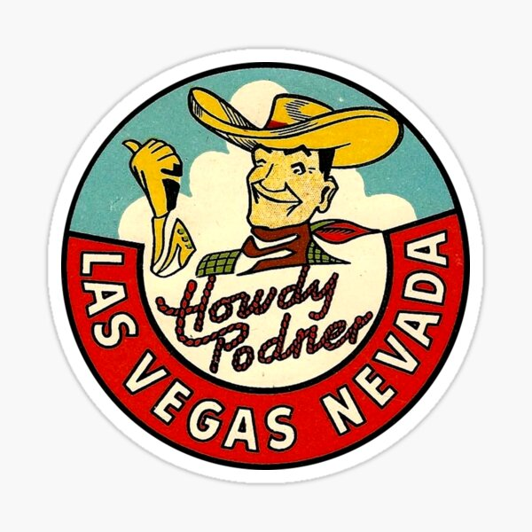 Las Vegas Vic Vintage Travel Decal Sticker