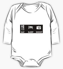 Eat Sleep Shoot Photographers Motto Shirts & Stickers One Piece - Long Sleeve