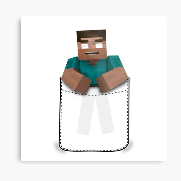 Minecraft: Pocket Herobrine Metal Print