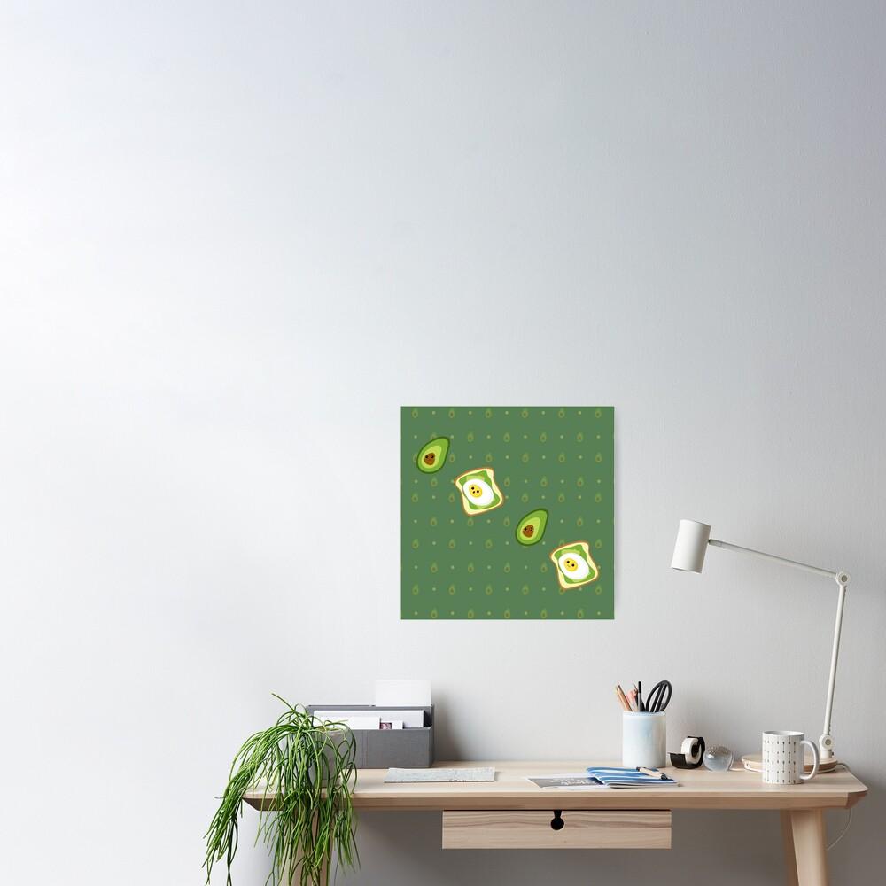 Kawaii Avocados Sticker Pack Poster