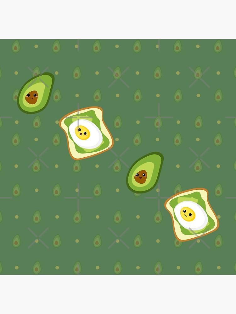 Kawaii Avocados Sticker Pack by darrianrebecca