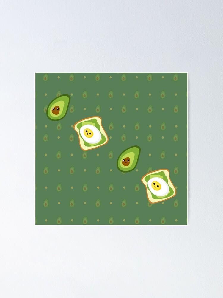 Alternate view of Kawaii Avocados Sticker Pack Poster