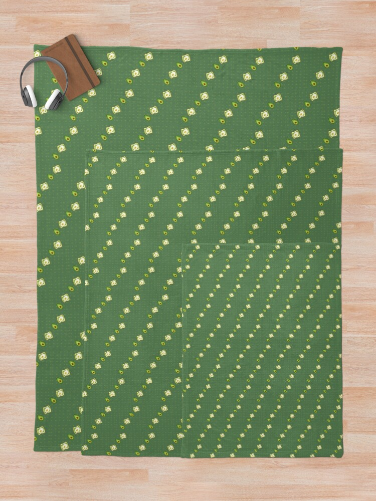 Alternate view of Kawaii Avocados Sticker Pack Throw Blanket