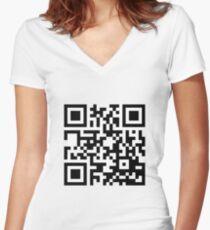 Rickroll Women's Fitted V-Neck T-Shirt