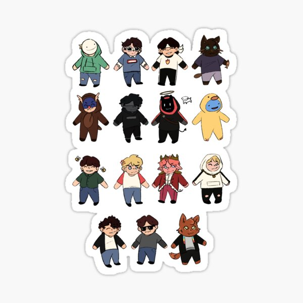 Minecraft streamer buddies Sticker