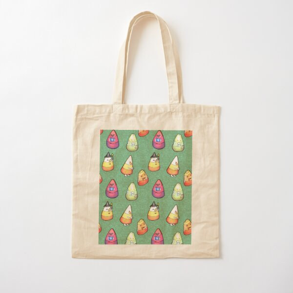 Candy Corn Monsters Cotton Tote Bag