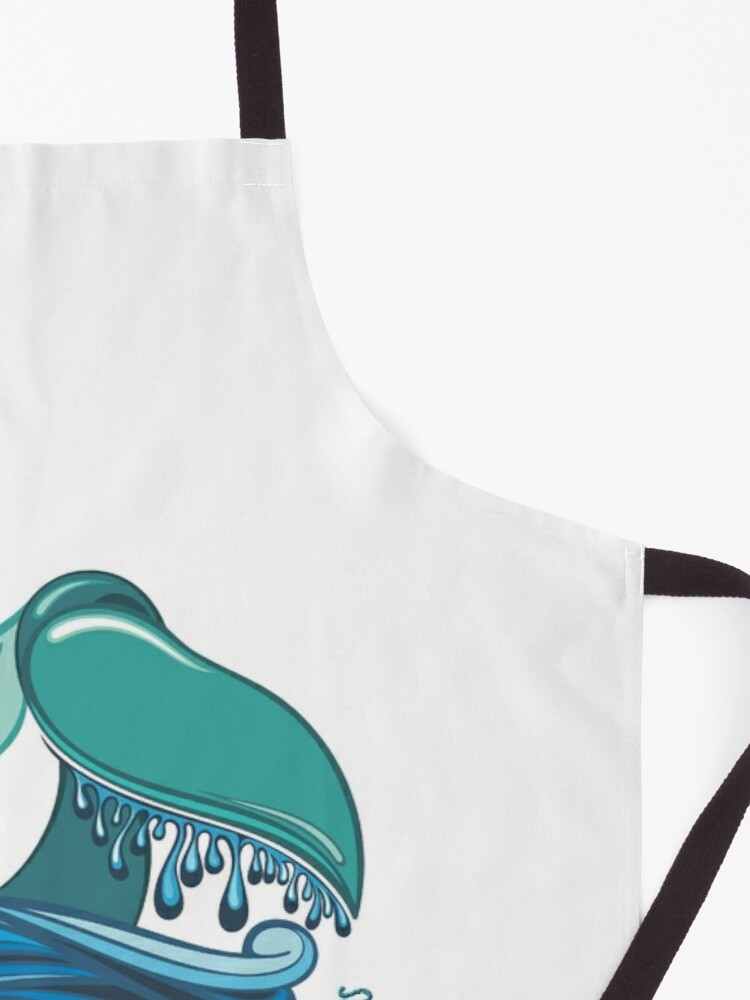 Alternate view of Protect Our Oceans Whale Tail Apron
