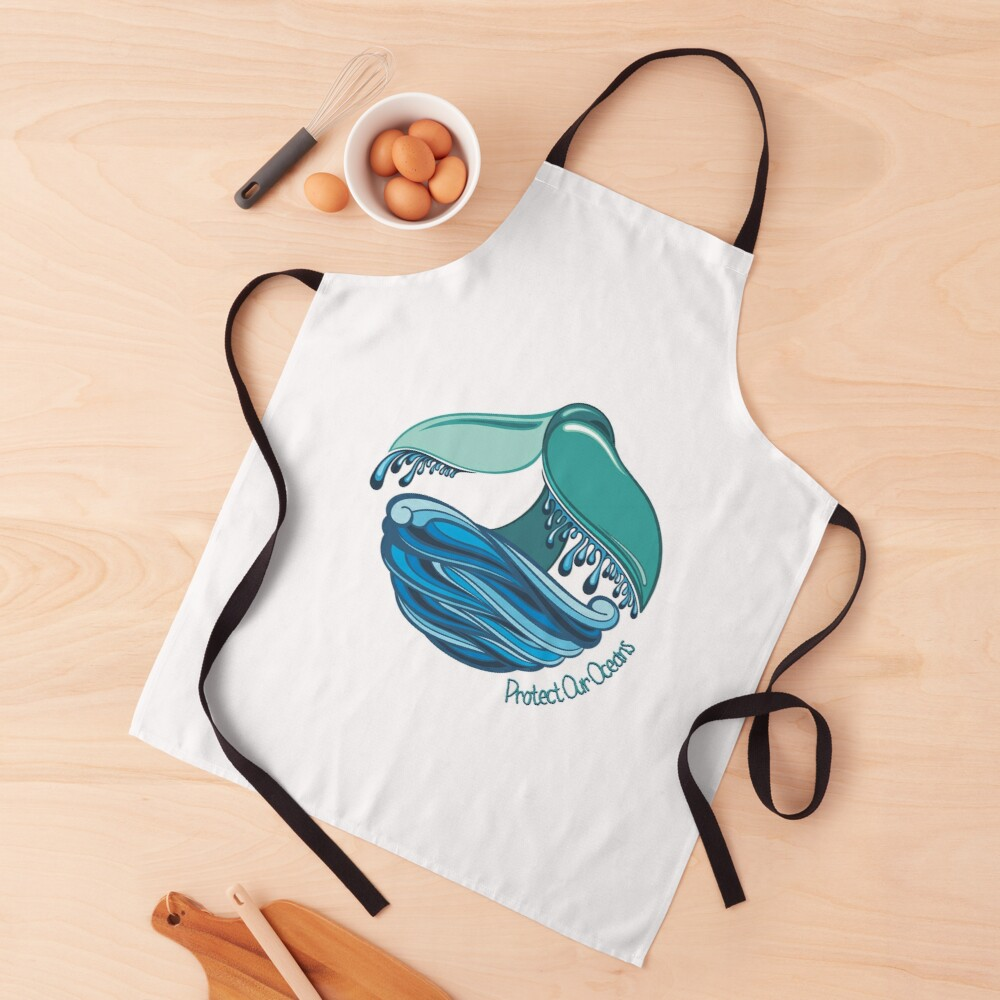 Protect Our Oceans Whale Tail Apron