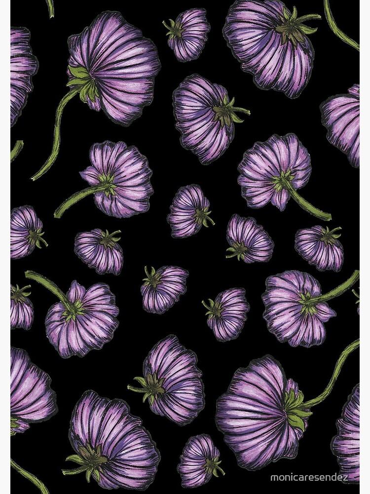 Purple flower rain by monicaresendez