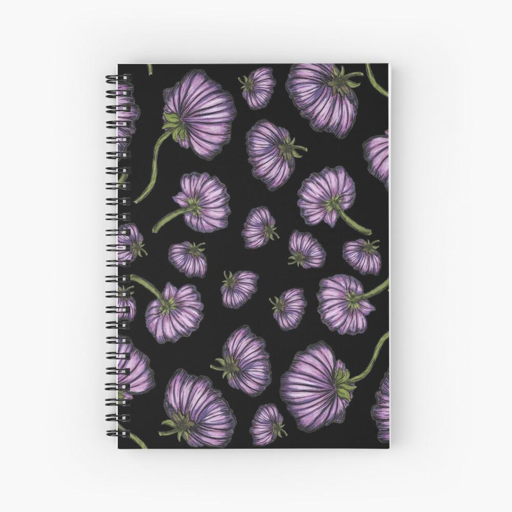 Purple flower rain Spiral Notebook
