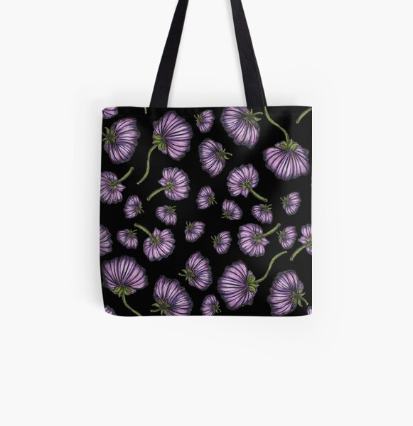 Purple flower rain All Over Print Tote Bag