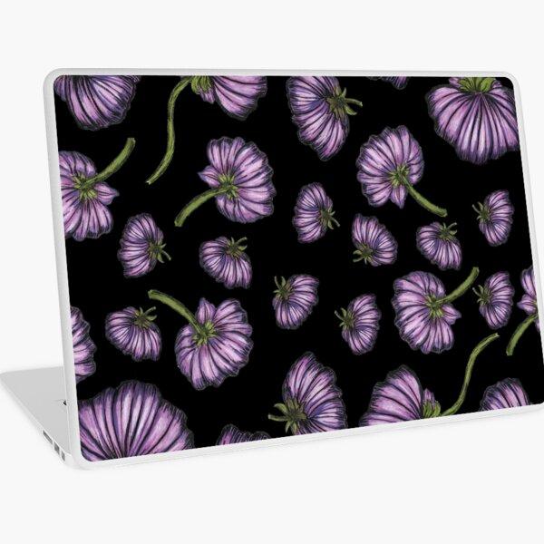 Purple flower rain Laptop Skin