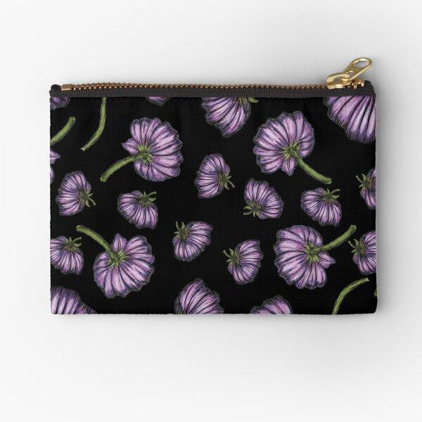 Purple flower rain Zipper Pouch